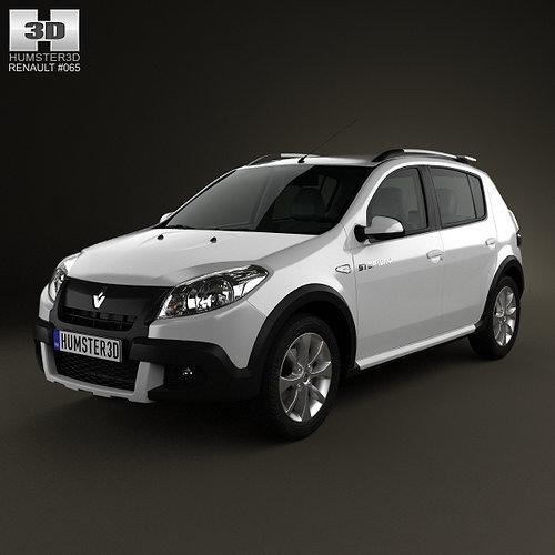 Renault Sandero Stepway BR 2011 3D model | CGTrader