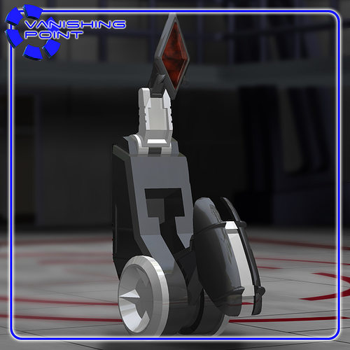 beebo the service robot for poser 3d model obj pz3 pp2 1