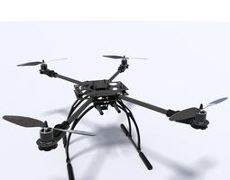 quadcopter 3d model obj fbx dxf stl blend