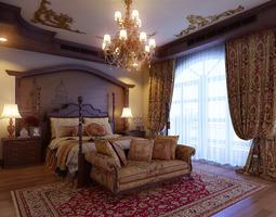 3D model Luxurious bedroom