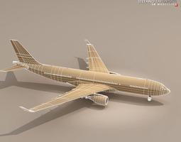 airbus A330-200 Air France 3D