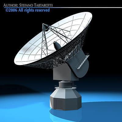 Antenna satellite 3d model cgtrader - Antena satelite interior ...