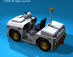 Airport tow tractor3 3D