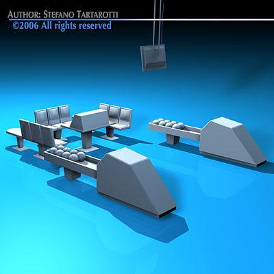 bowling table 3d model obj mtl 3ds c4d dxf 1