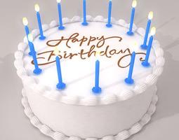 3d model birthday cake