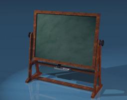 old school blackboard 3d model