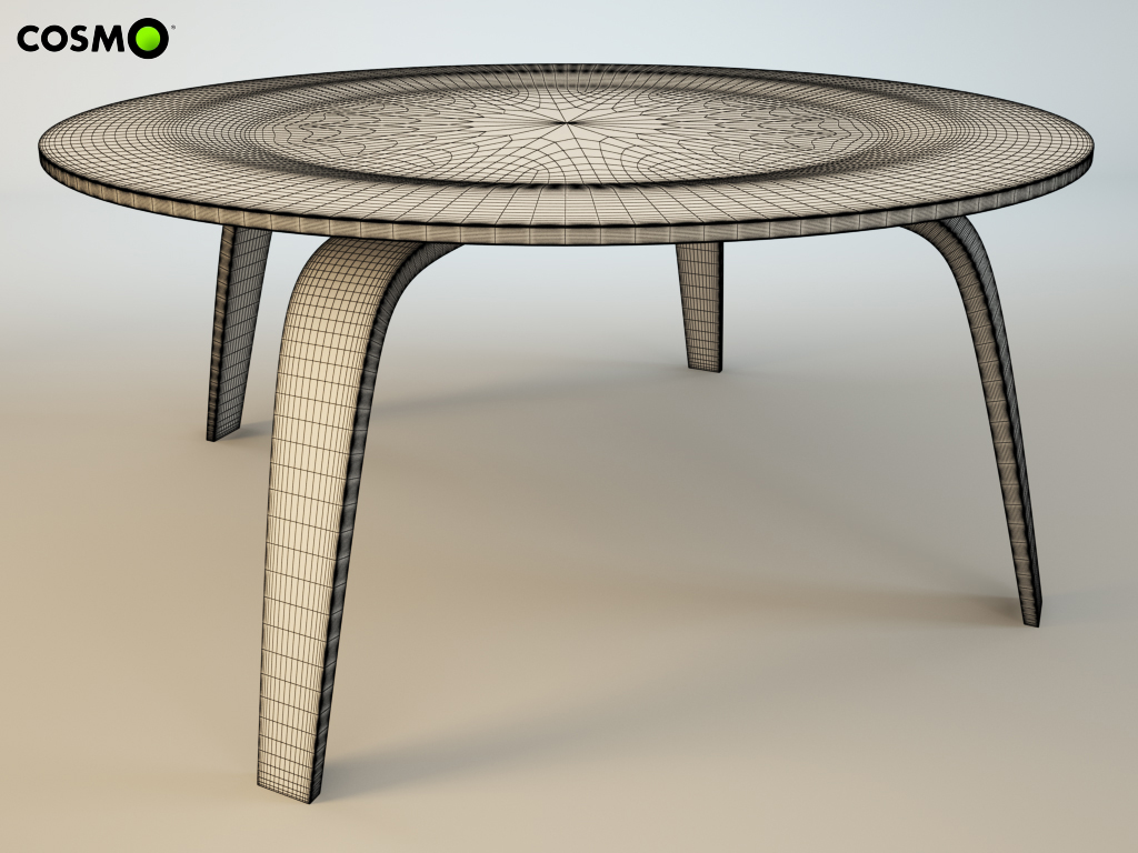 Coffee table molded plywood 3d model max for Coffee table 3d model