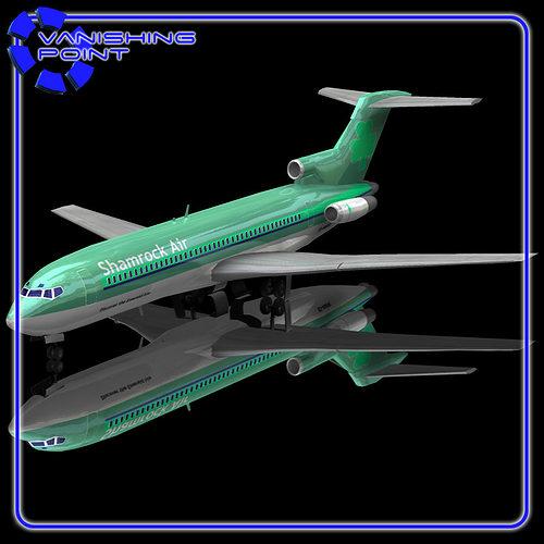 airliner 727 poser vue 3d model rigged obj vue pz3 pp2. Black Bedroom Furniture Sets. Home Design Ideas