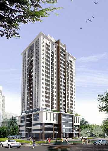 3d models detailed high rise building cgtrader for Apartment model house