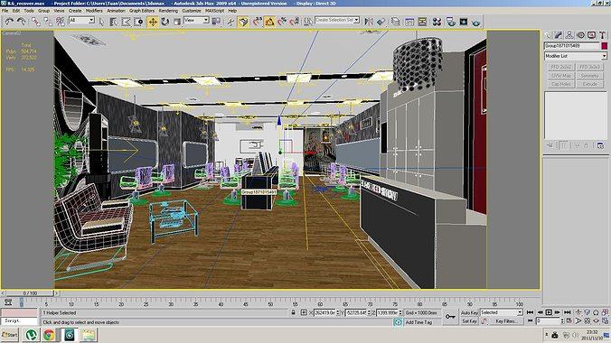Barber Shop or Beauty Salon Interior 3D Model MAX ...