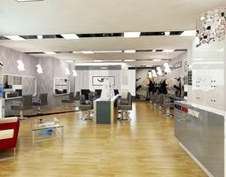 Barber Shop or Beauty Salon Interior 3D model