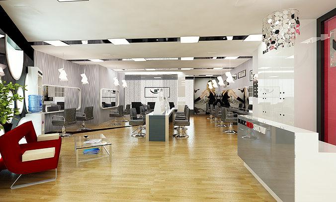 Barber shop or beauty salon interior 3d model cgtrader for Salon interior design software
