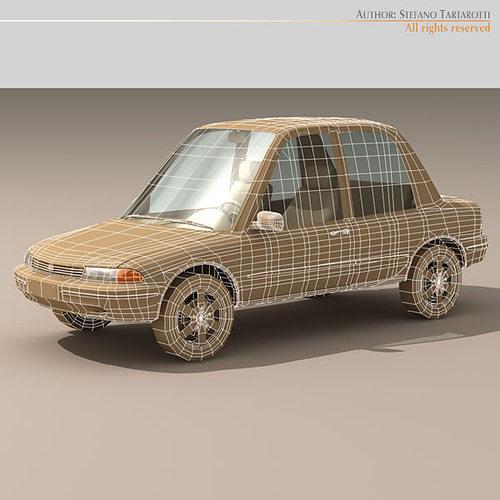 Cartoon Car 3d Model Cgtrader