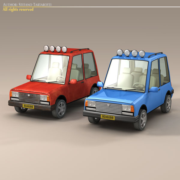 Cartoon Suv 3d Model Cgtrader