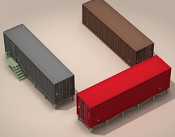 Container office 3D model
