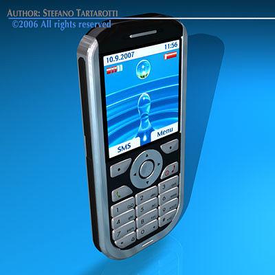 cellular 3d model obj 3ds c4d dxf 1