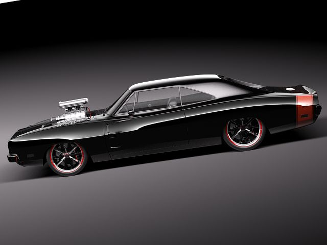 Dodge Charger 1969 custom 3D Model MAX OBJ 3DS FBX C4D LWO ...
