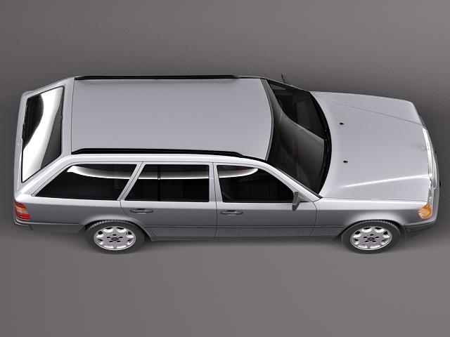 mercedes benz e class w124 kombi 3d model max 3ds fbx c4d. Black Bedroom Furniture Sets. Home Design Ideas