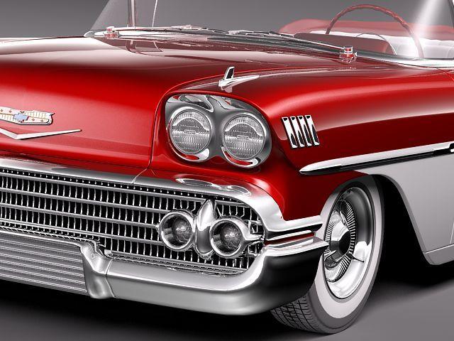 chevrolet bel air 1958 convertible 3d model max obj 3ds fbx lwo lw lws 3