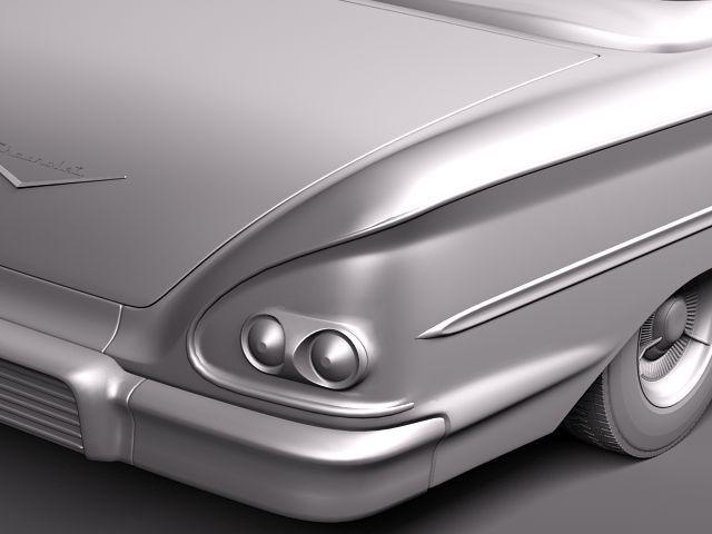 chevrolet bel air 1958 convertible 3d model max obj 3ds fbx lwo lw lws 10