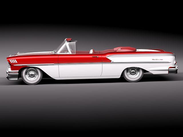 chevrolet bel air 1958 convertible 3d model max obj 3ds fbx lwo lw lws 7