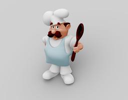 chef character 3d model