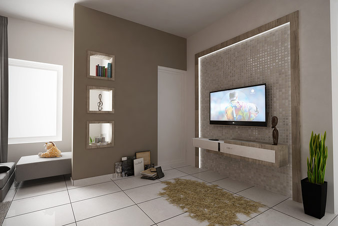 3d model c4d living room top view cgtrader for Living room cinema 4d