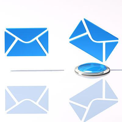 email logo 3d model obj mtl 3ds c4d dxf 1