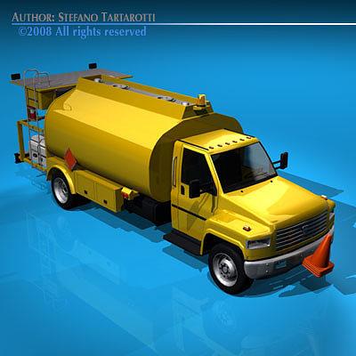 airport fuel truck 3d model obj mtl 3ds c4d dxf 1