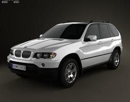 3d bmw x5 e53 2000