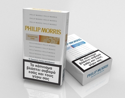 philip morris cigarette pack 3d model