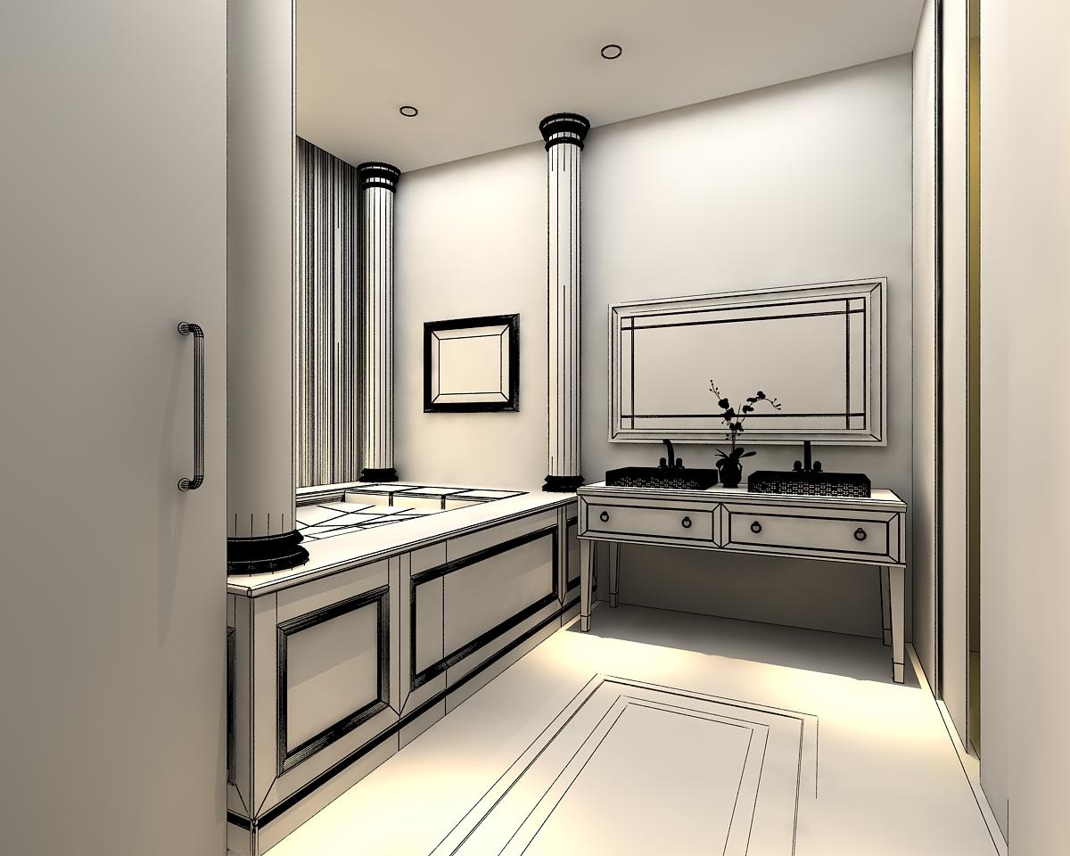 Model Bathroom 3d models photoreal bathroom | cgtrader