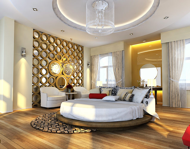 3d models photoreal bedroom floor apartment 3d model max for Bedroom designs 3d model