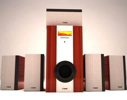 Sound system 3D model