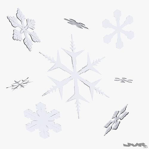 snowflakes 3d model max obj 3ds fbx mtl pdf 1