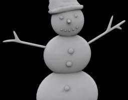 3d printable model snowman ornament