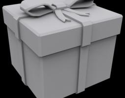 Presents box square 3D print model
