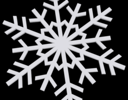 3D printable model Snowflake