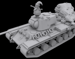 Santa Tank 3D printable model