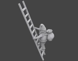 3D print model Santa on ladder