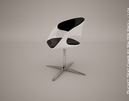 lox bucket seat chair by walter knoll  3d model  3d model max