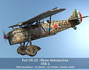 3D model Fiat CR 32 - Italy Airforce - 358 Squadriglia