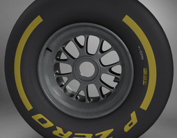 3d f1 tyre soft front