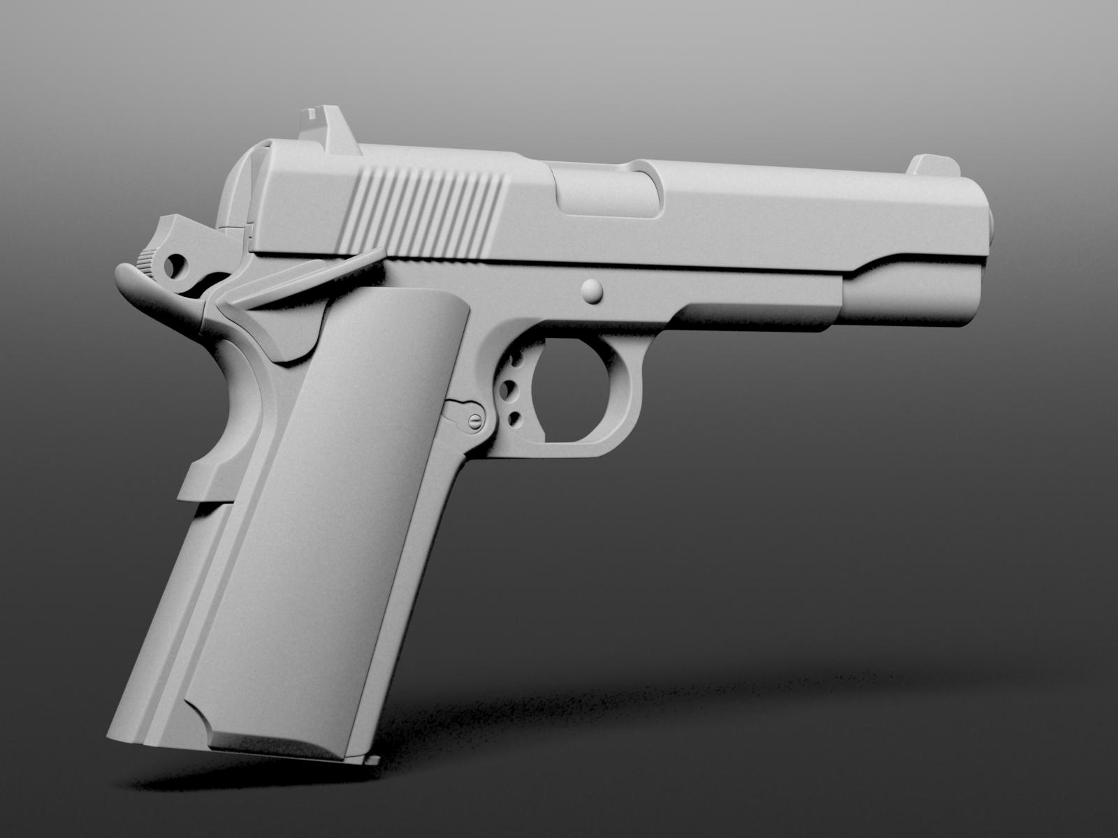 M1911 free 3D Model MAX | CGTrader.com