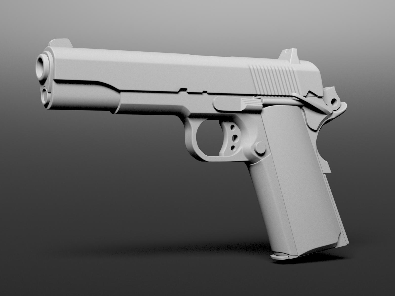 M1911 free 3d model max Free 3d