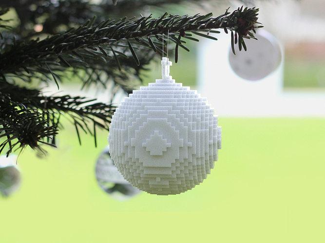 3d printed pixellated ornament 3d model obj mtl stl 1