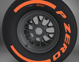 3d model f1 tyre hard rear