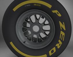 3D F1 tyre soft rear