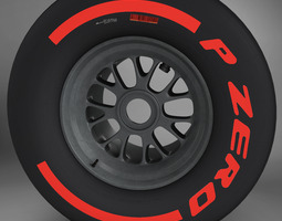 3d model f1 tyre supersoft rear