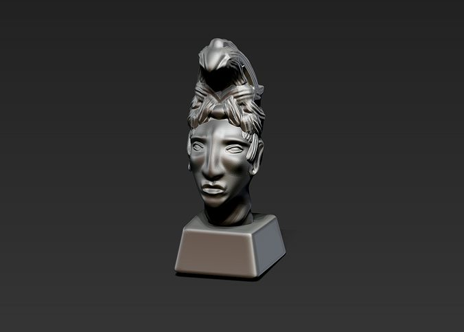 King Pacal Mayan Head